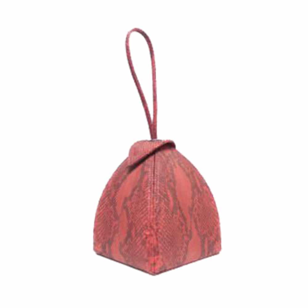 Maria Pink Python Leather Bag