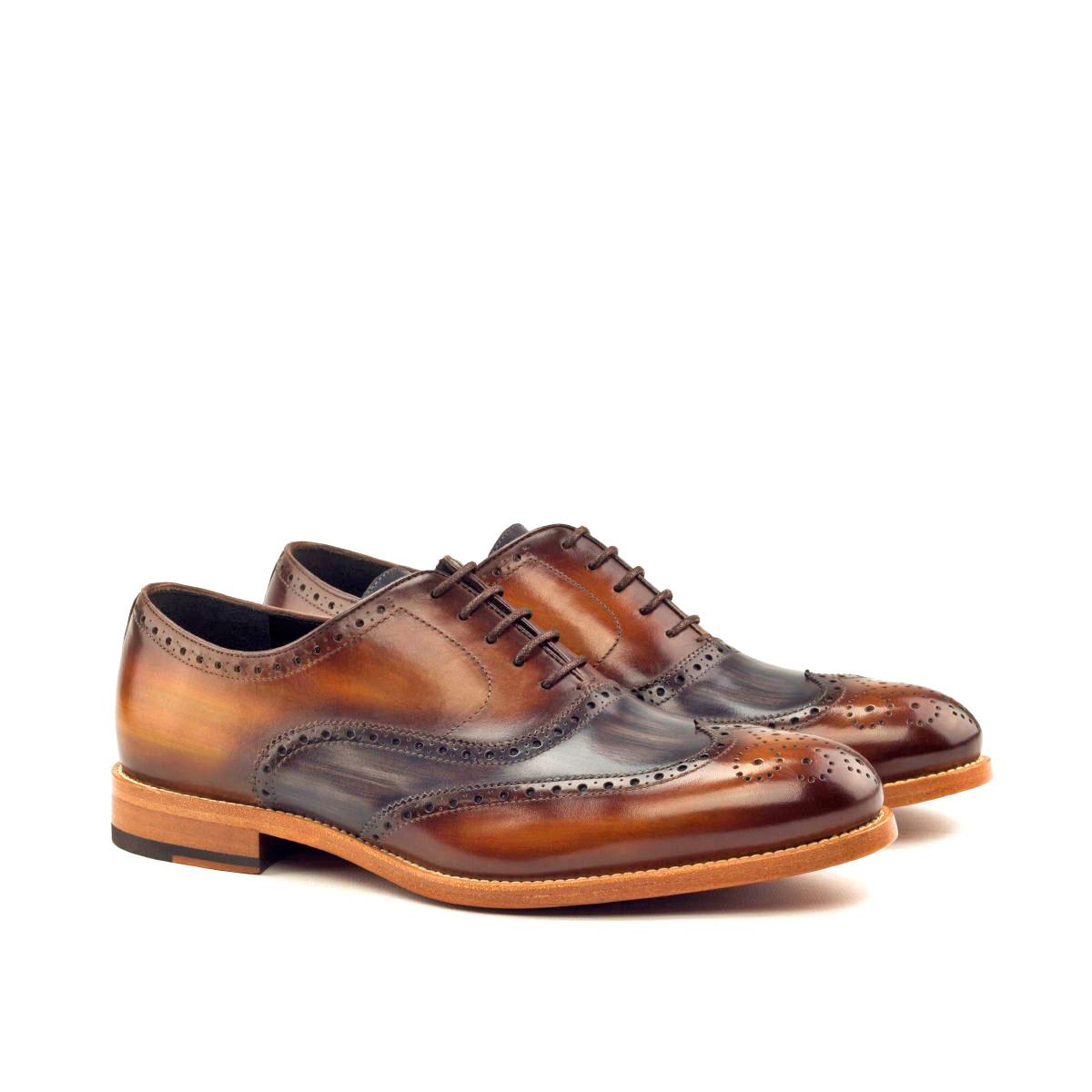 Hand Made Patina Full Brogue Shoe