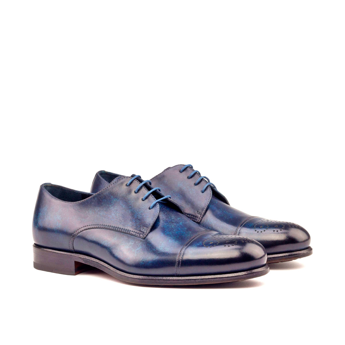 Hand Made Patina Derby Shoe