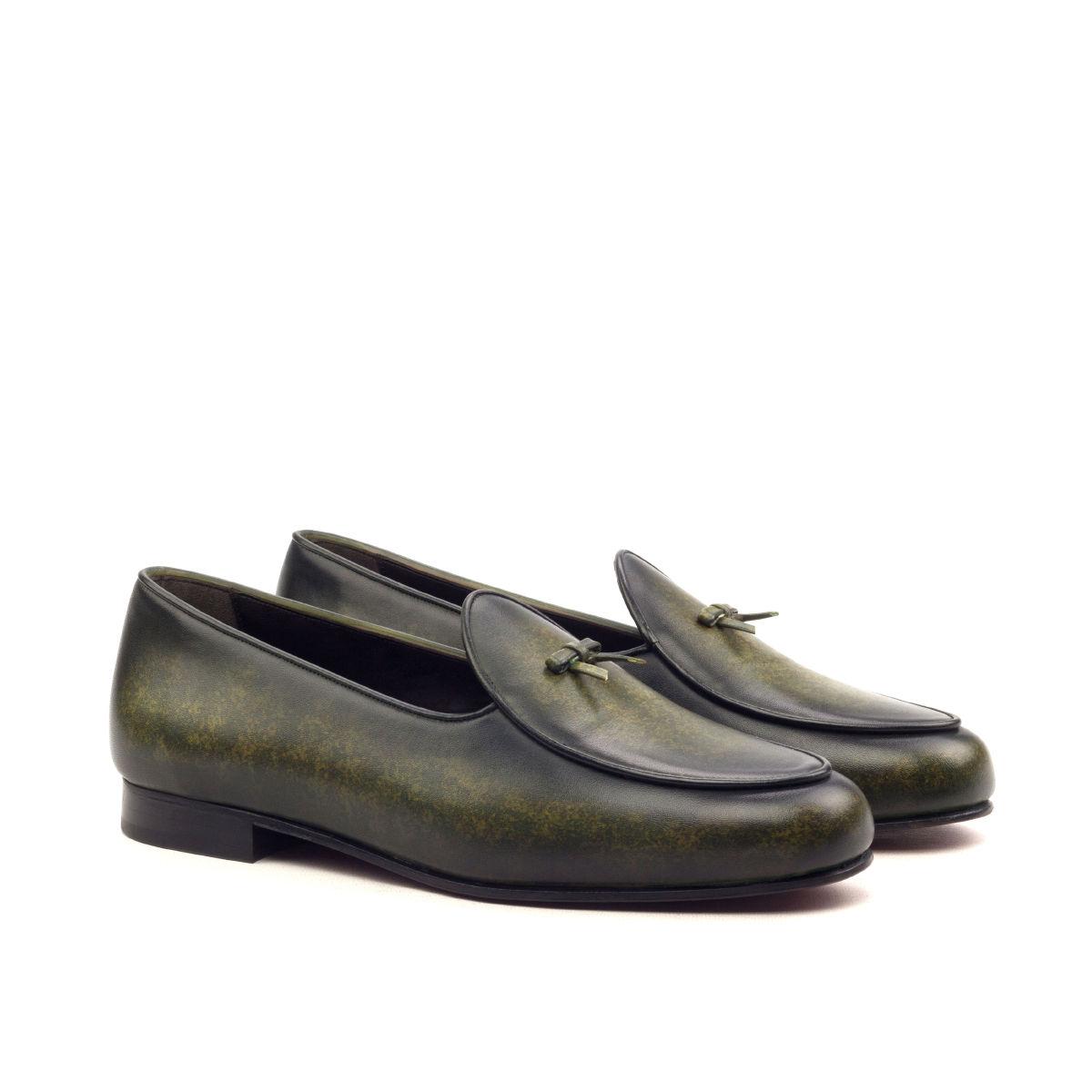Hand Made Patina Belgian Slipper Shoe