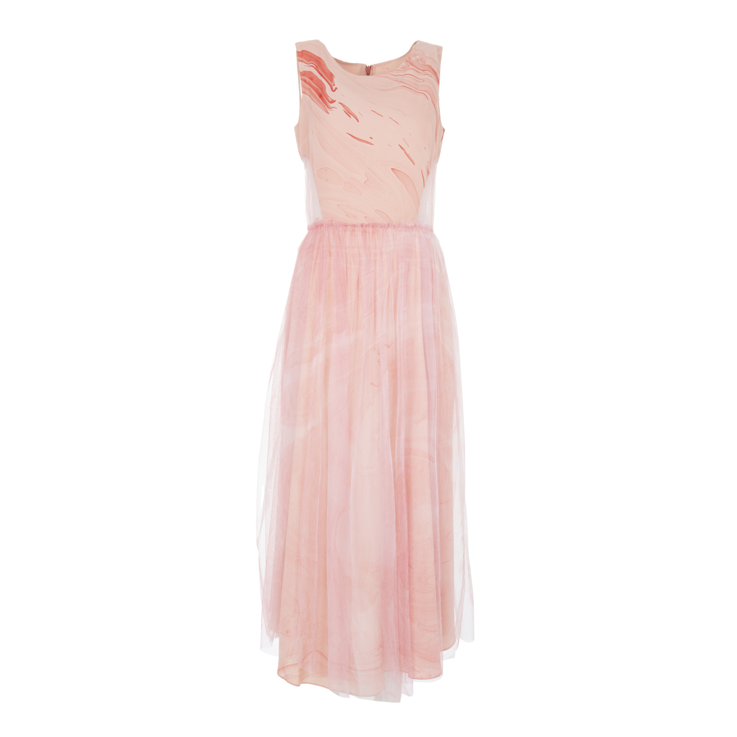 hand dyed layered cut out pink silk dress