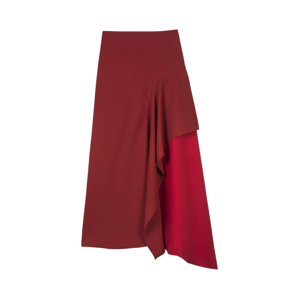Alejandra de coss women´s asymmetric red skirt