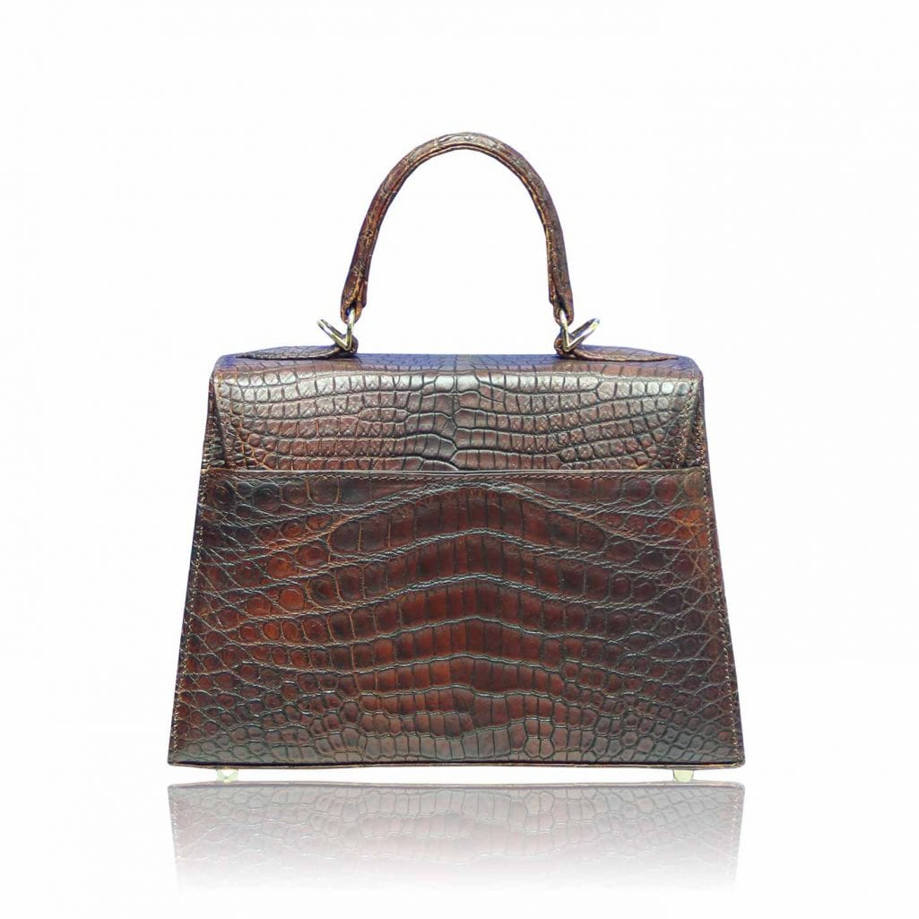 Brown crocodile bag