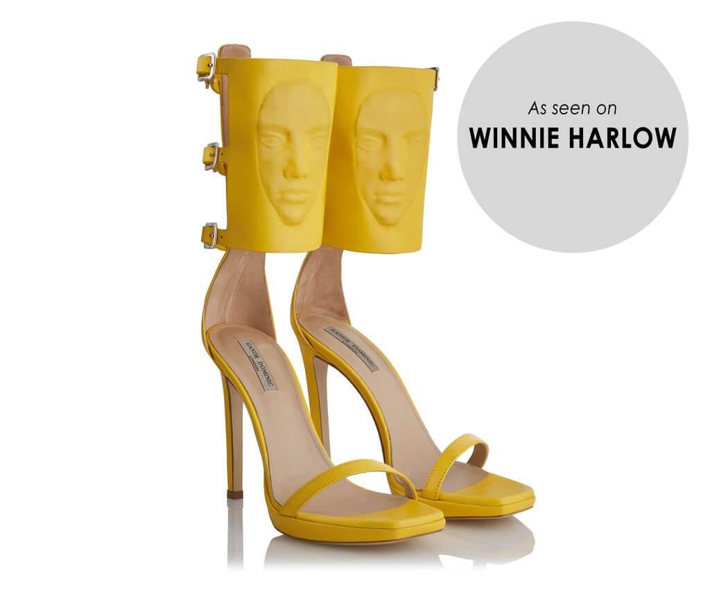 Ganor Dominic women's electra yellow nappa leather sandal