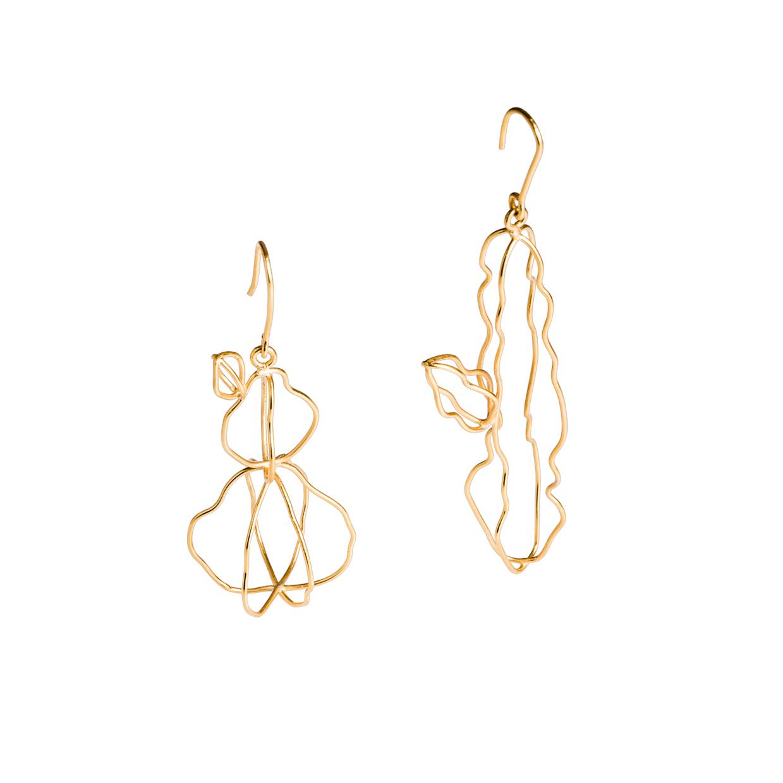 Alejandra de Coss women's euphorbia gold-plated earrings