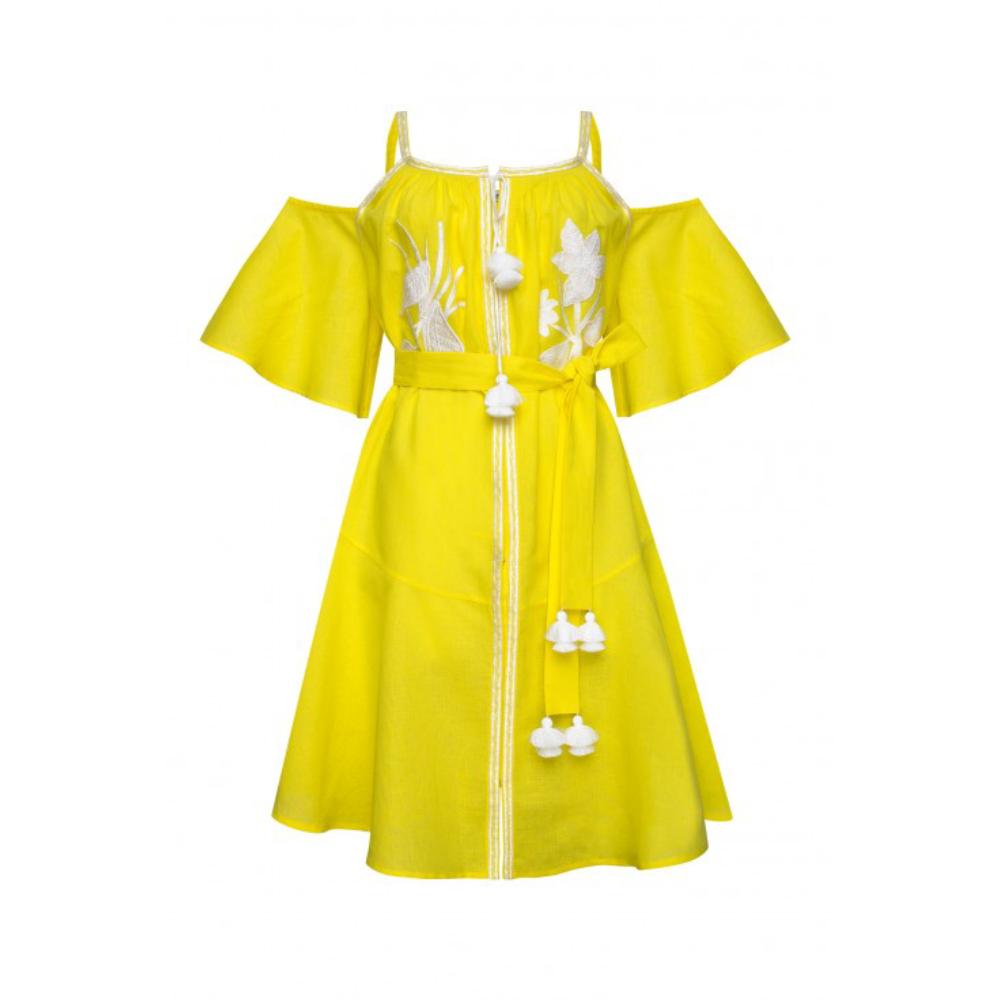 Eden Yellow Mini Dress