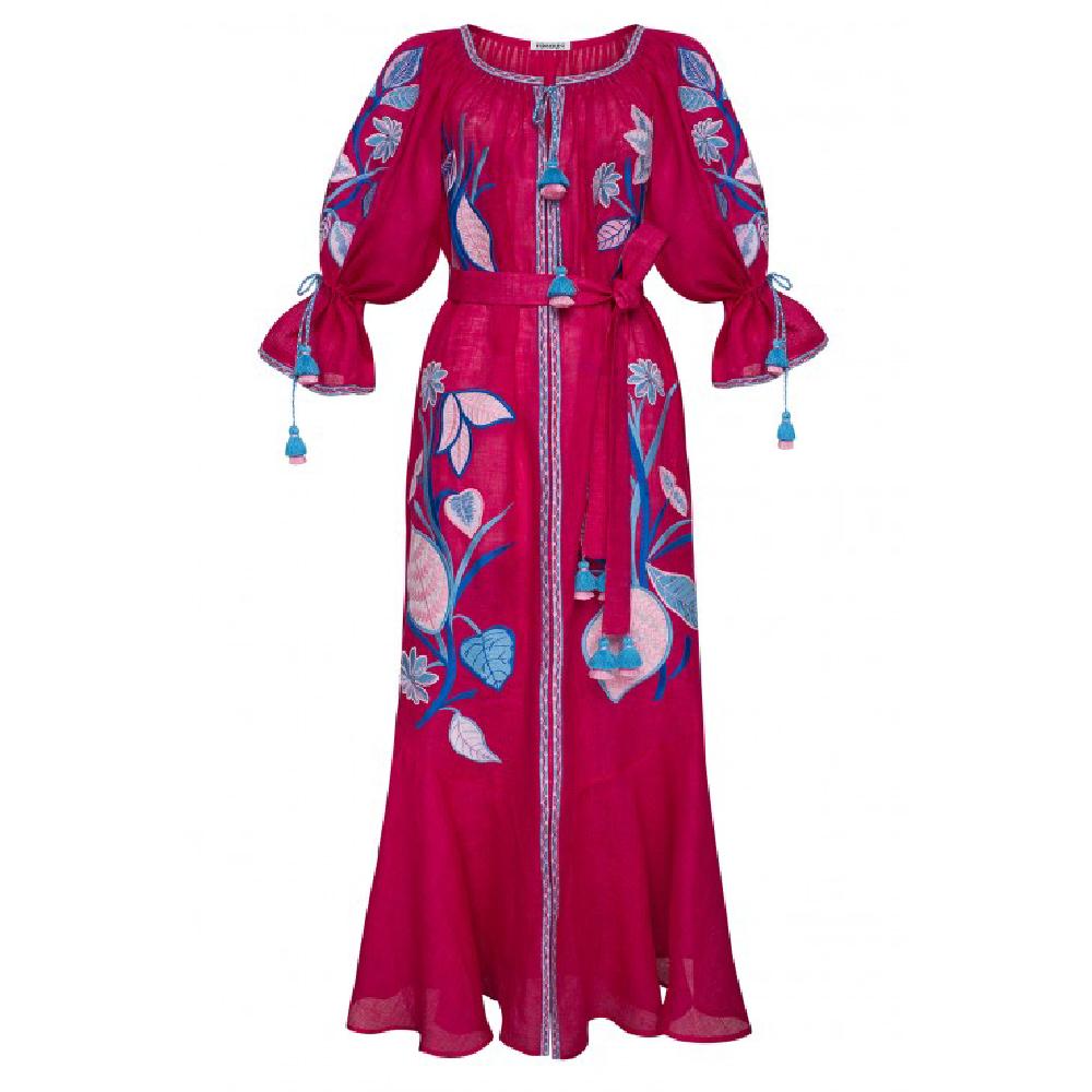 Eden Fuchsia Maxi Dress