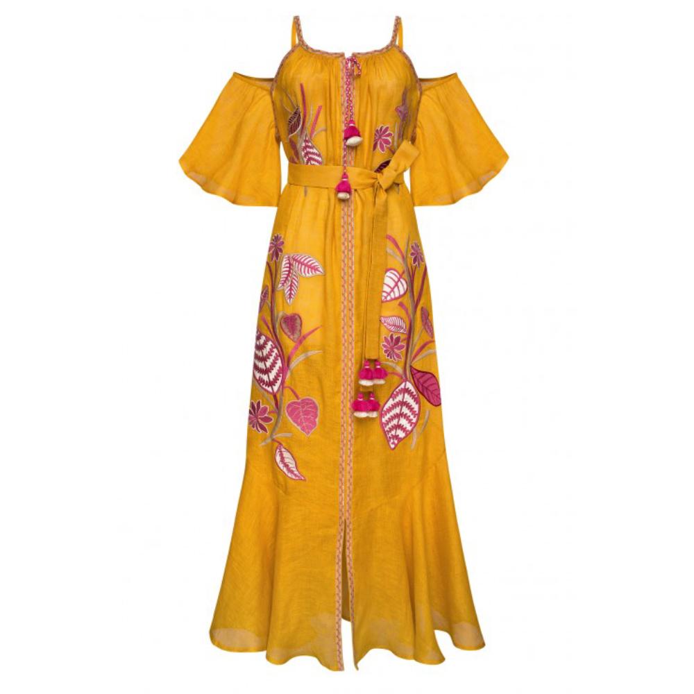 Eden Mustard Maxі Dress