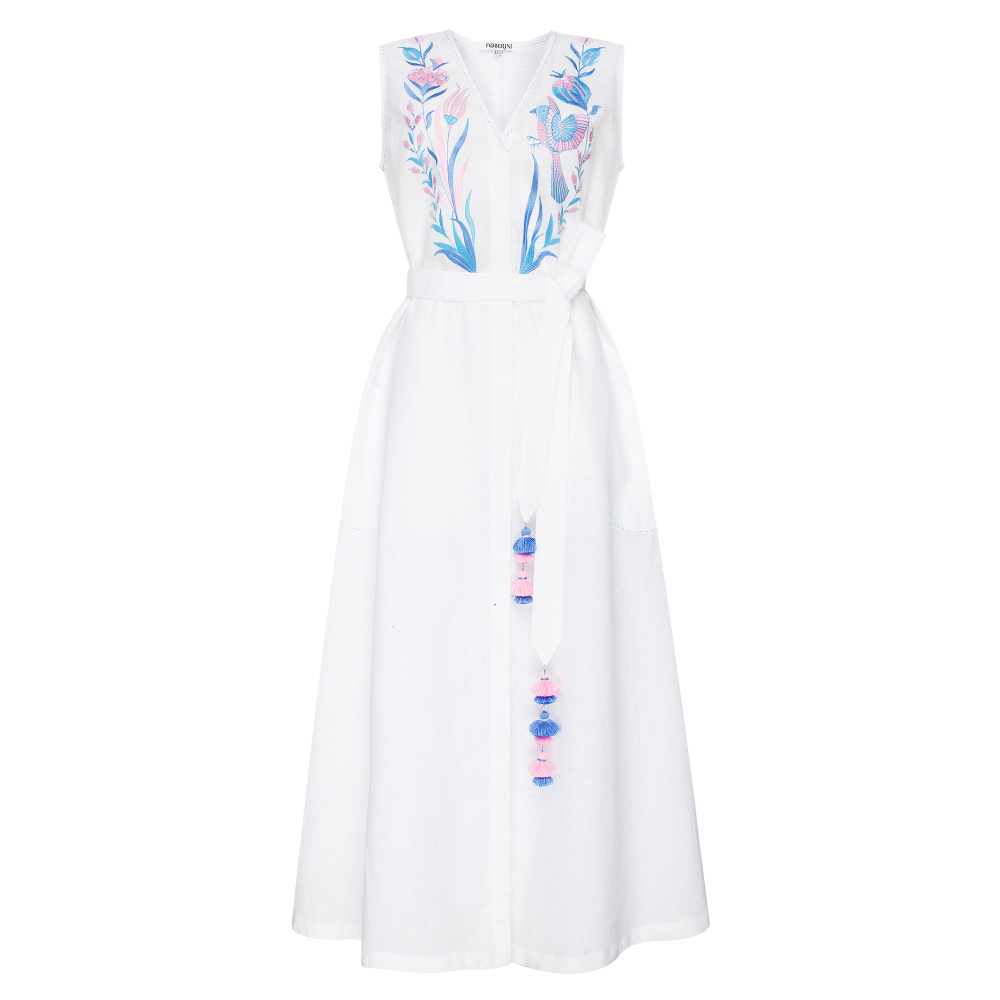 Quezal White Maxi Dress