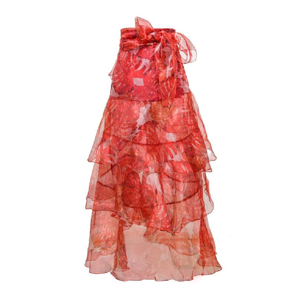 Amorino garnet brown leaves skirt