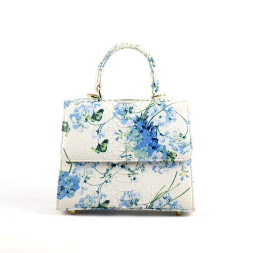 Goldmas 21 Floral Printed Python limited bag