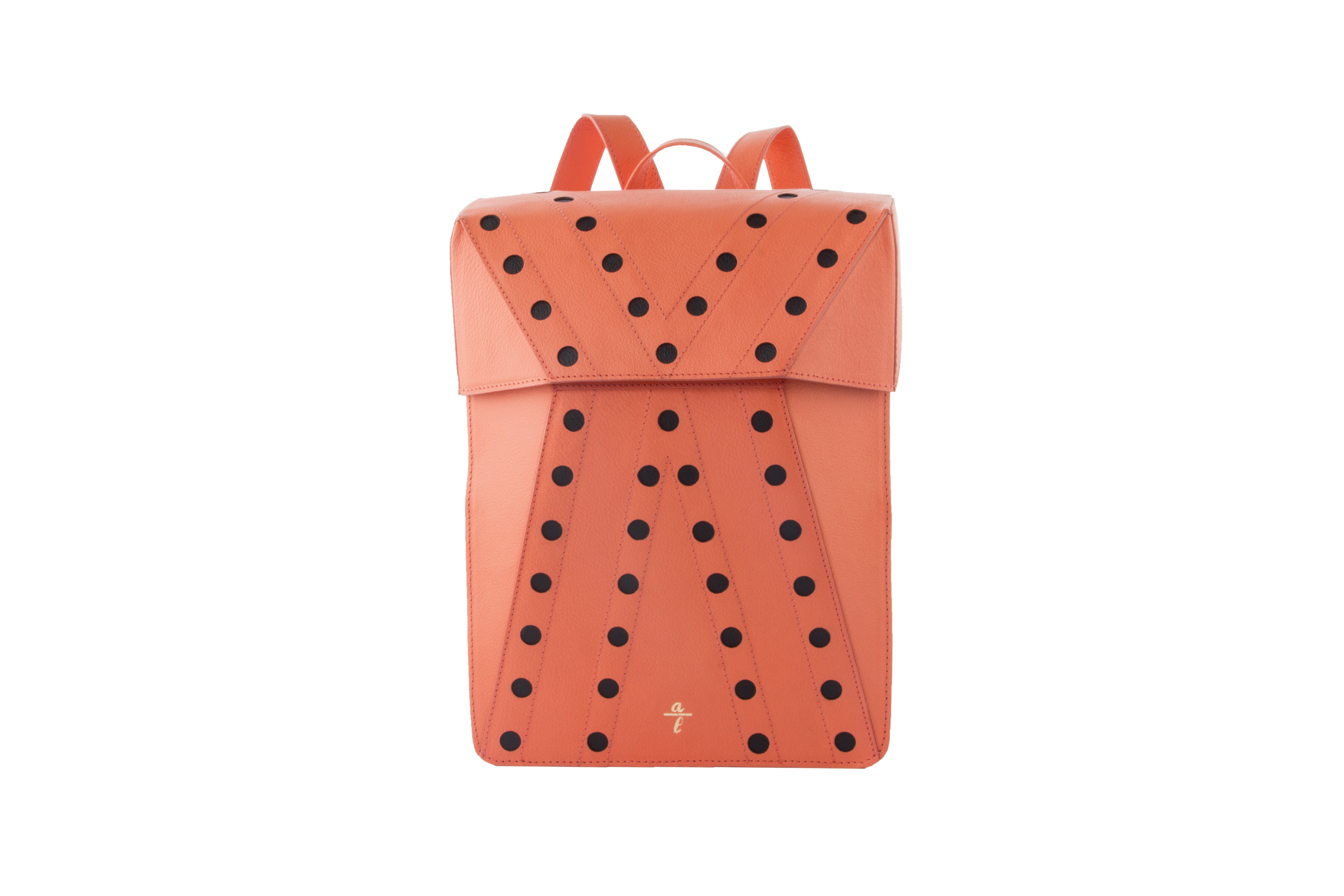 Chrome Free Cata Coral Leather Backpack