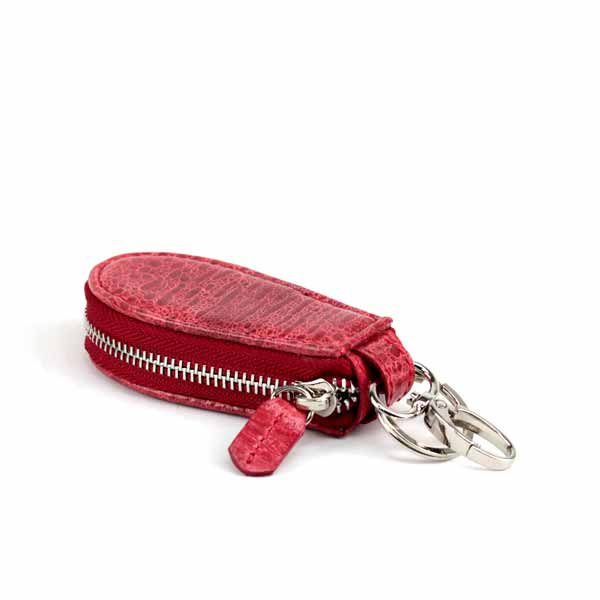 red leather key chain