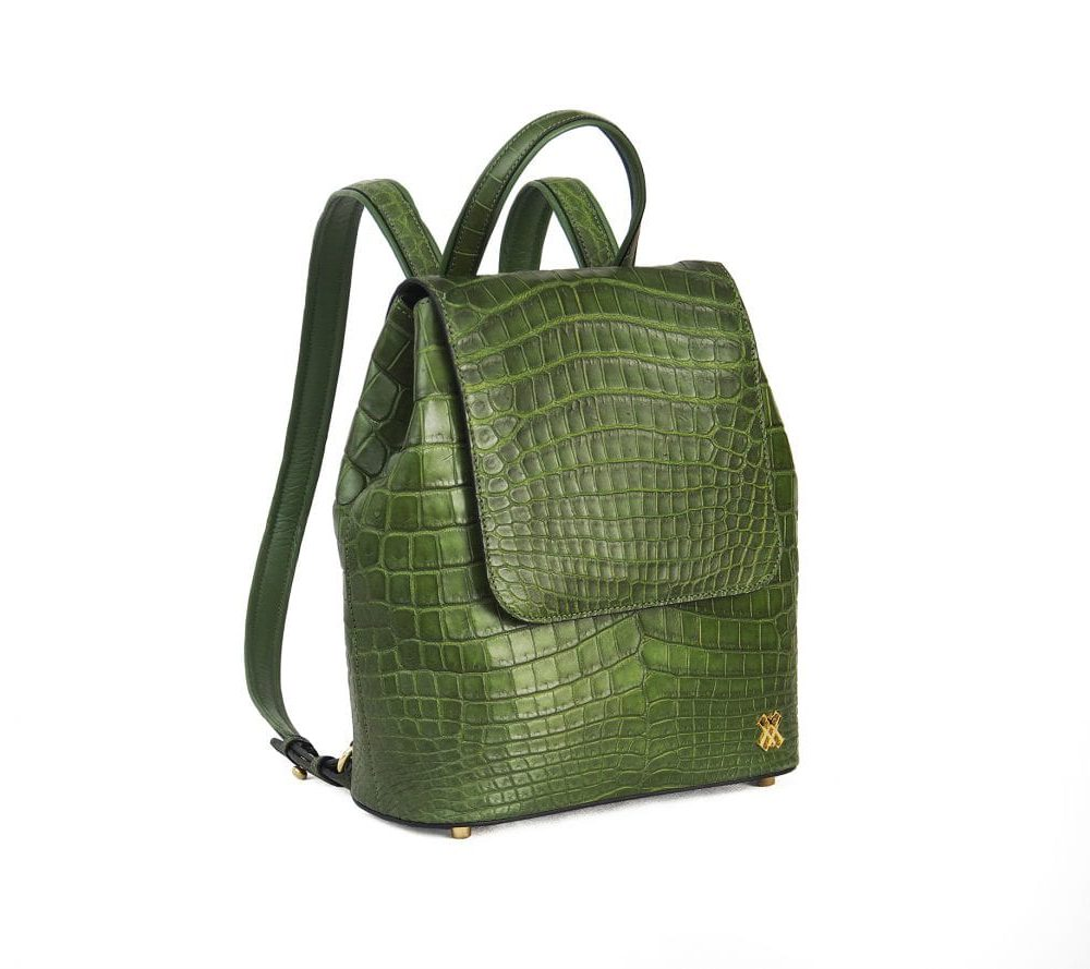 TRIXIE Crocodile leather backpack