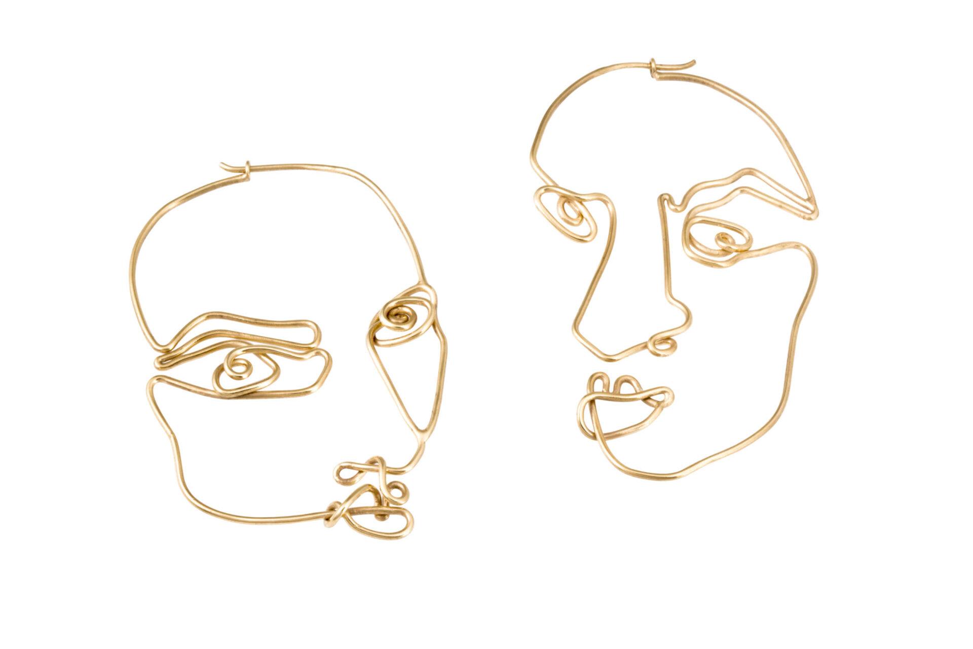 Alejandra de Coss women´s stabile gold plated earrings