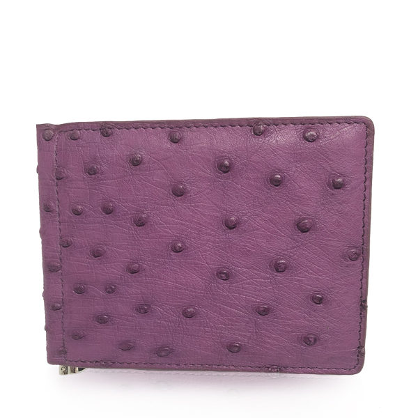 Ostrich Skin Money Clips Wallet