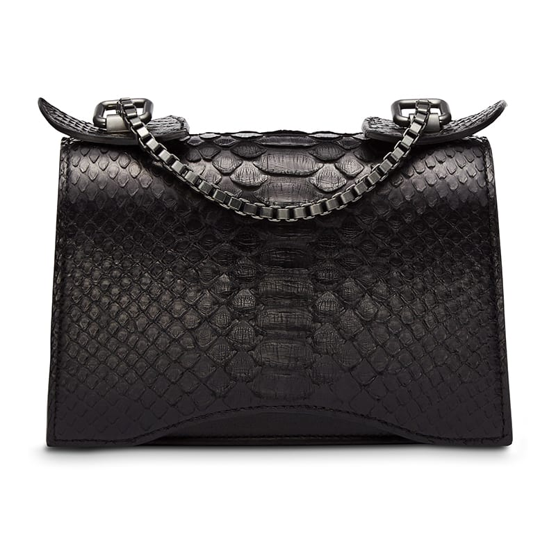 Diavolino Piccolino Black Python leather