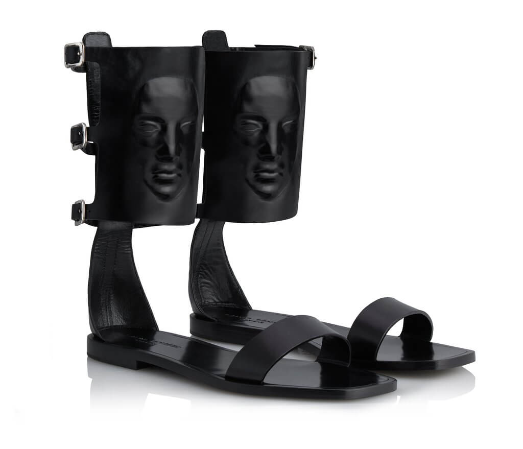 Ganor Dominic women's strx black nappa leather sandal