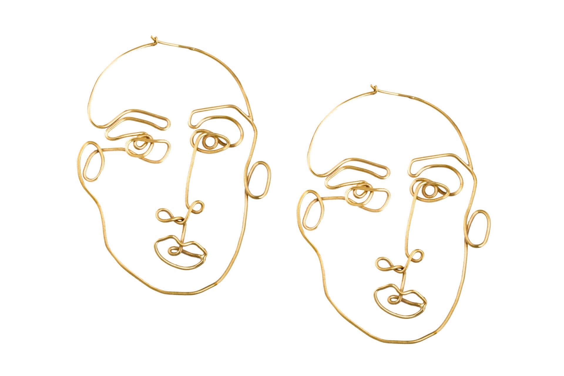 Alejandra de coss women´s stabile front gold plated earrings