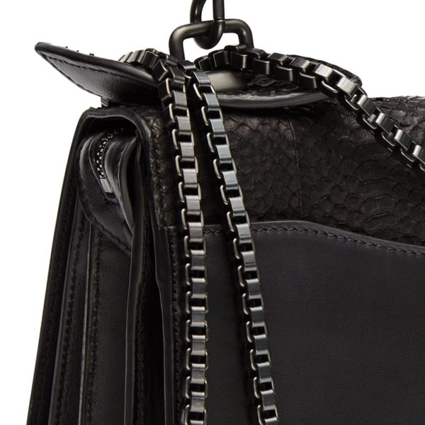 Diavolino XL Snake leather Gun Metal chain