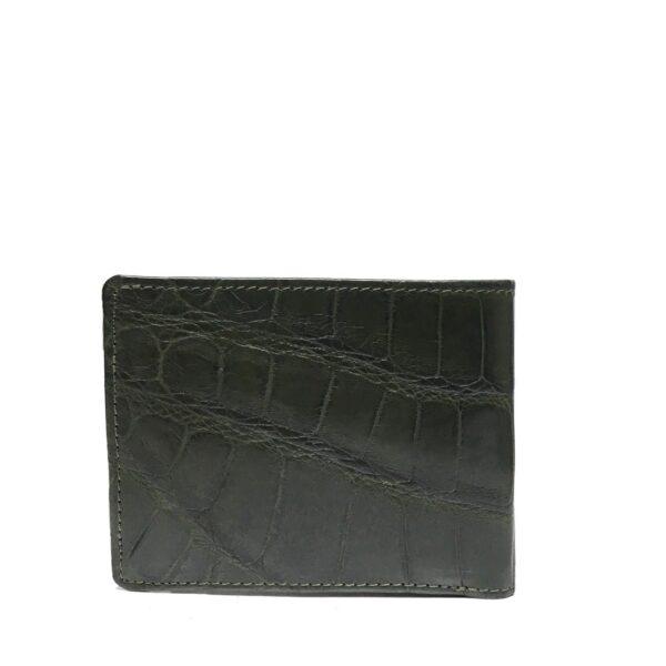 Super shiny full crocodile leather men's wallet
