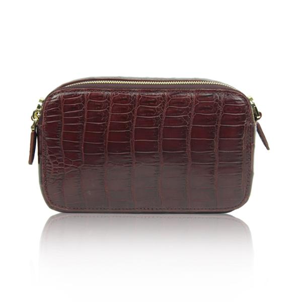 Crocodile Leather Belt Bag