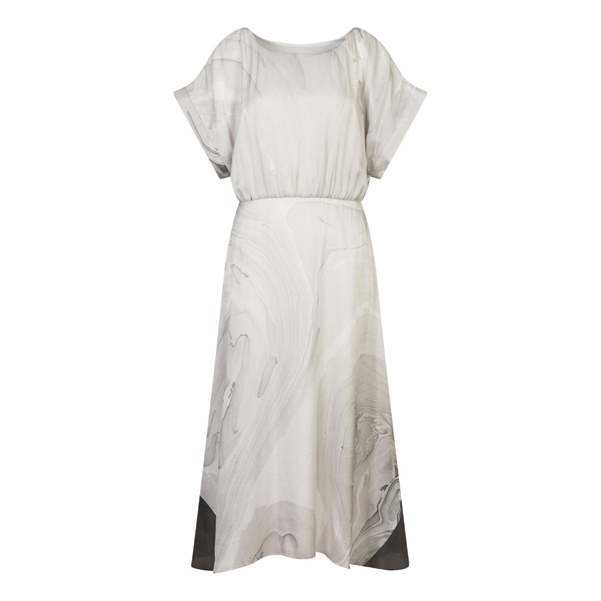 marbled panel dress