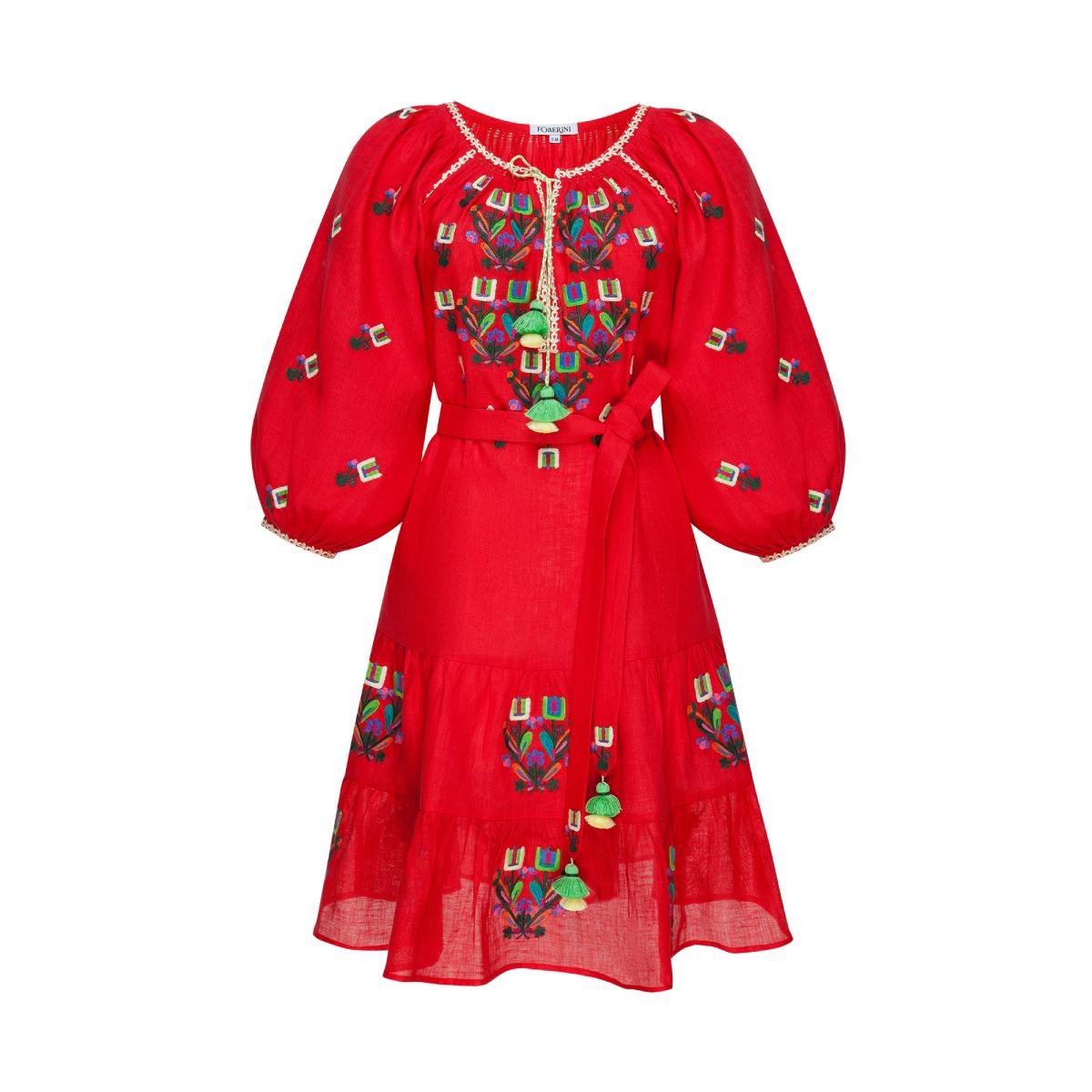 Omelia Chic Red Mini Dress