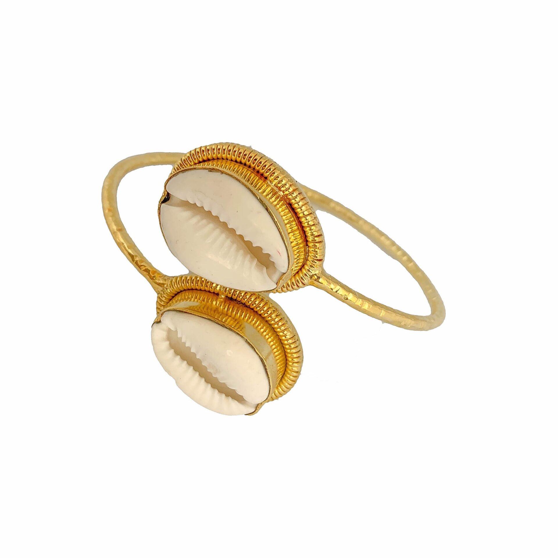 Tanya litkovska Women's Shell Bangle Bracelet