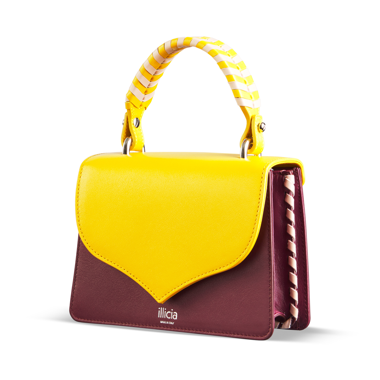 Celina 2.0 Yellow And Oxblood Red Bag