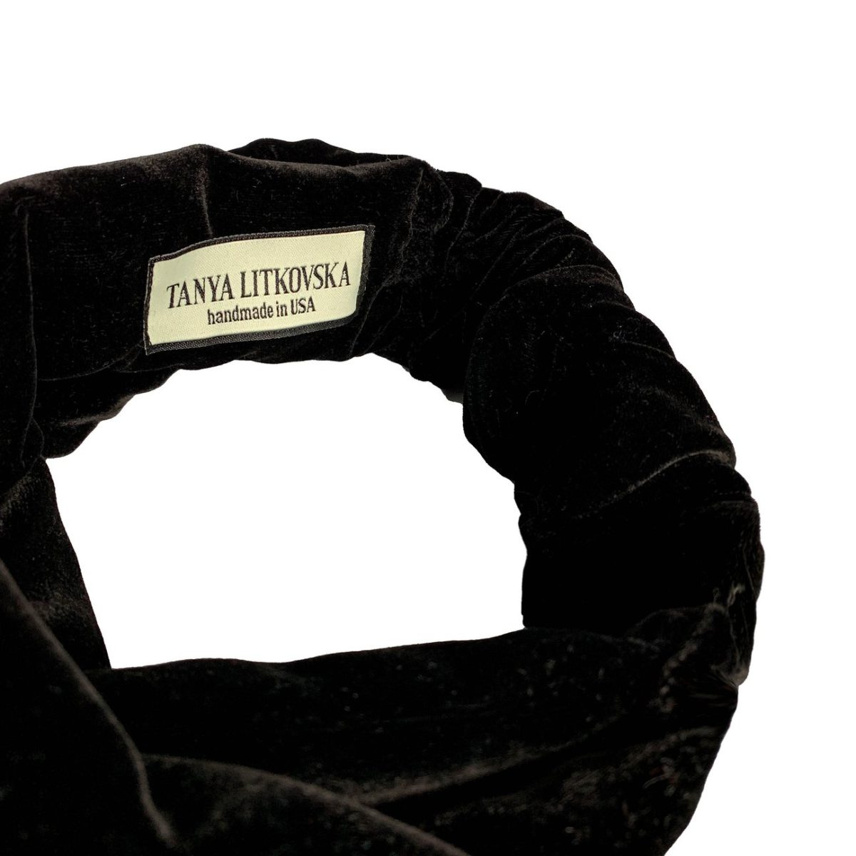 Turban Headband | Black velvet headband