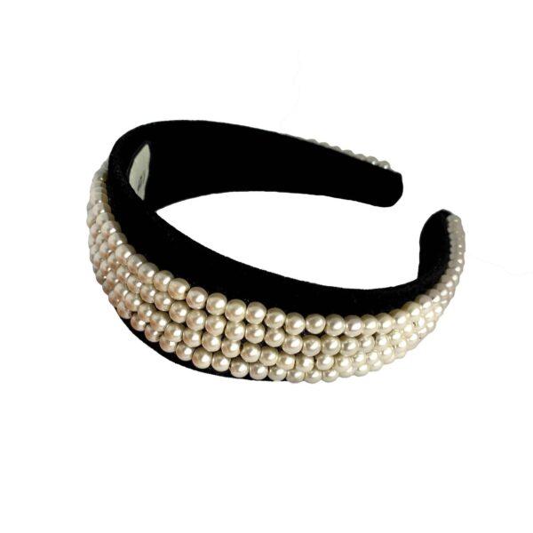 Pearl Headband | Thick Velvet Headband | Wide Fashion Headband