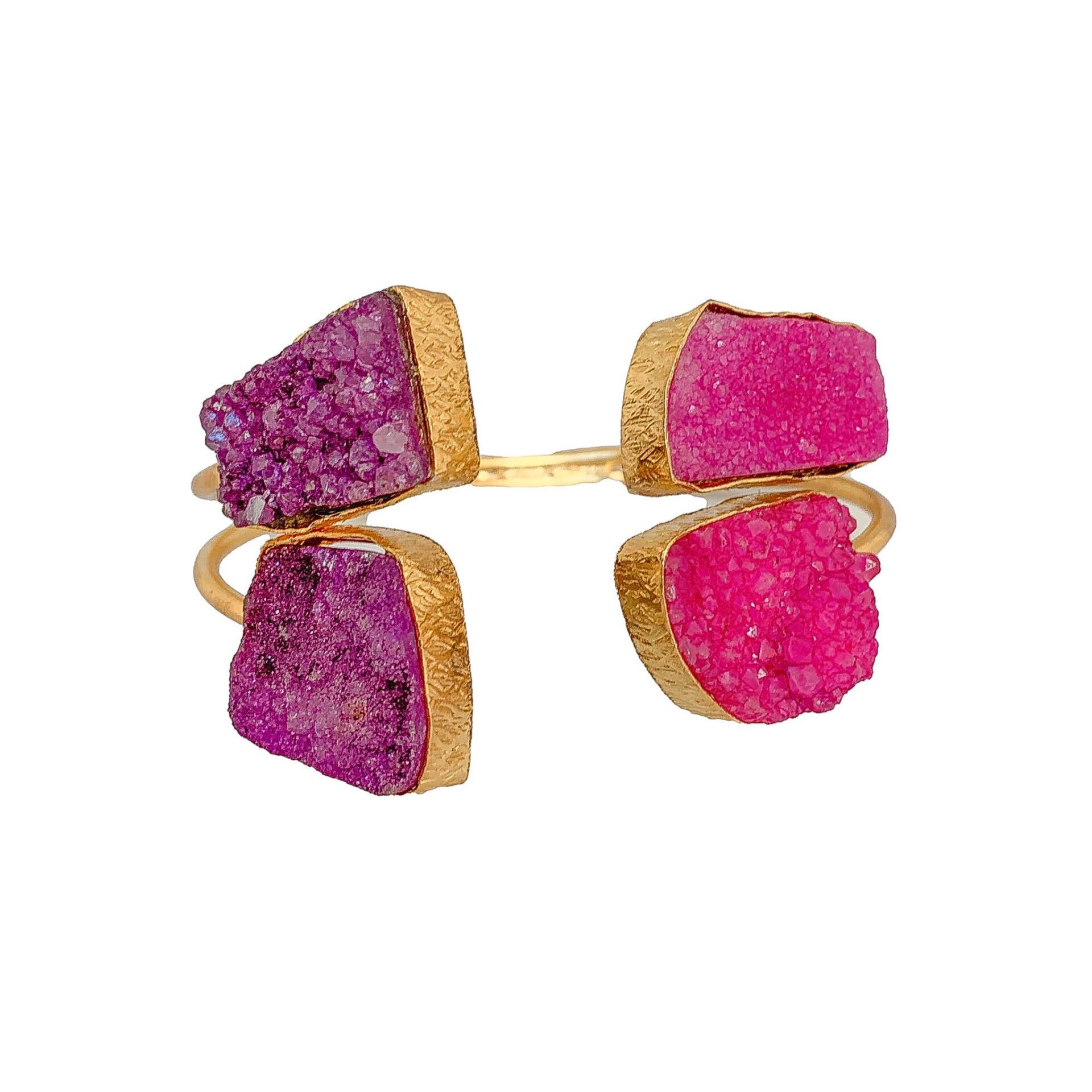 Tanya litkovska Women's Pink Crab Cuff Bracelet