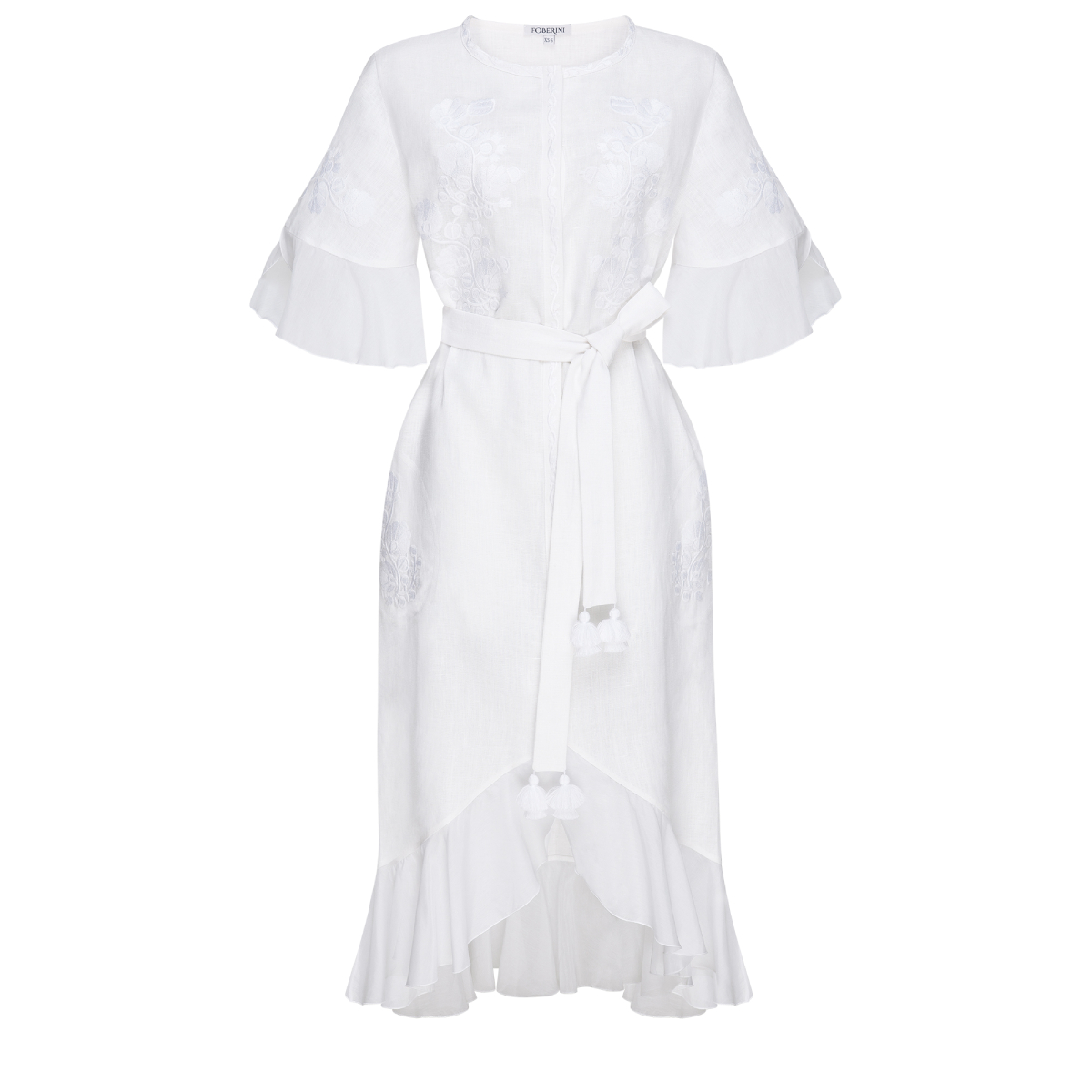Daisy White Midi-dress