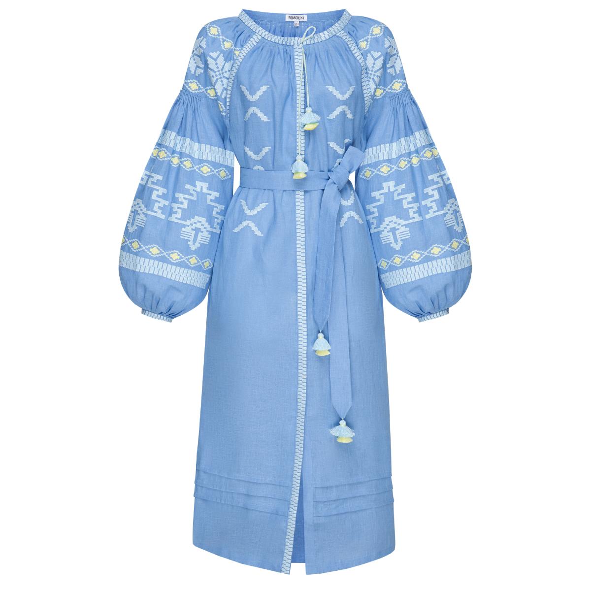 Tina Blue Midi Dress