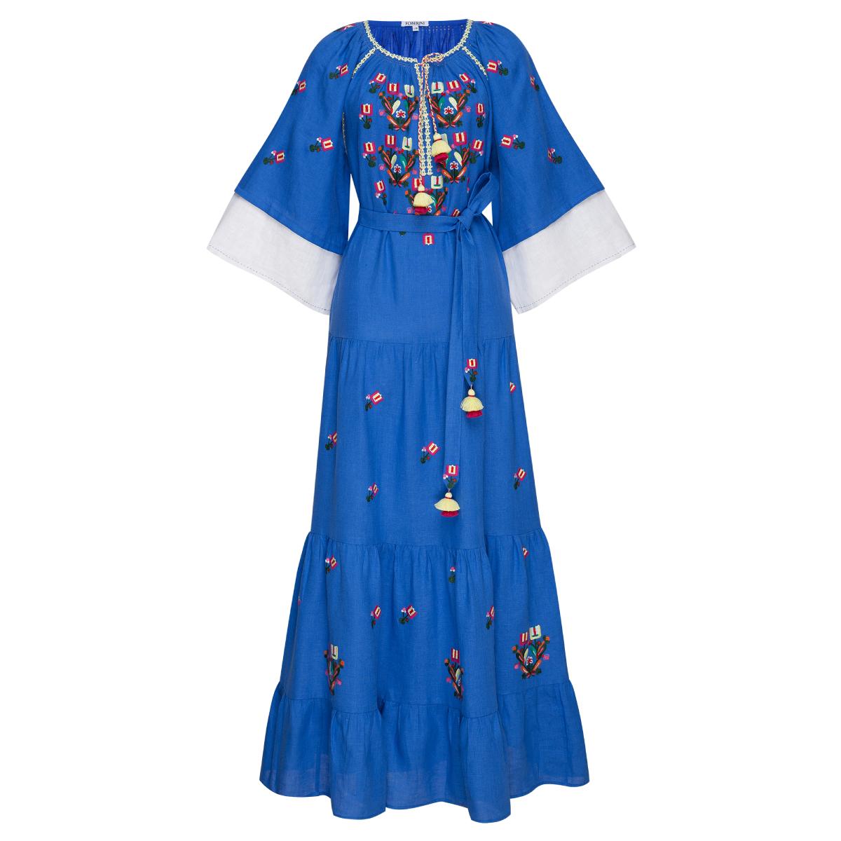 Omelia Chic Blue Maxi Dress