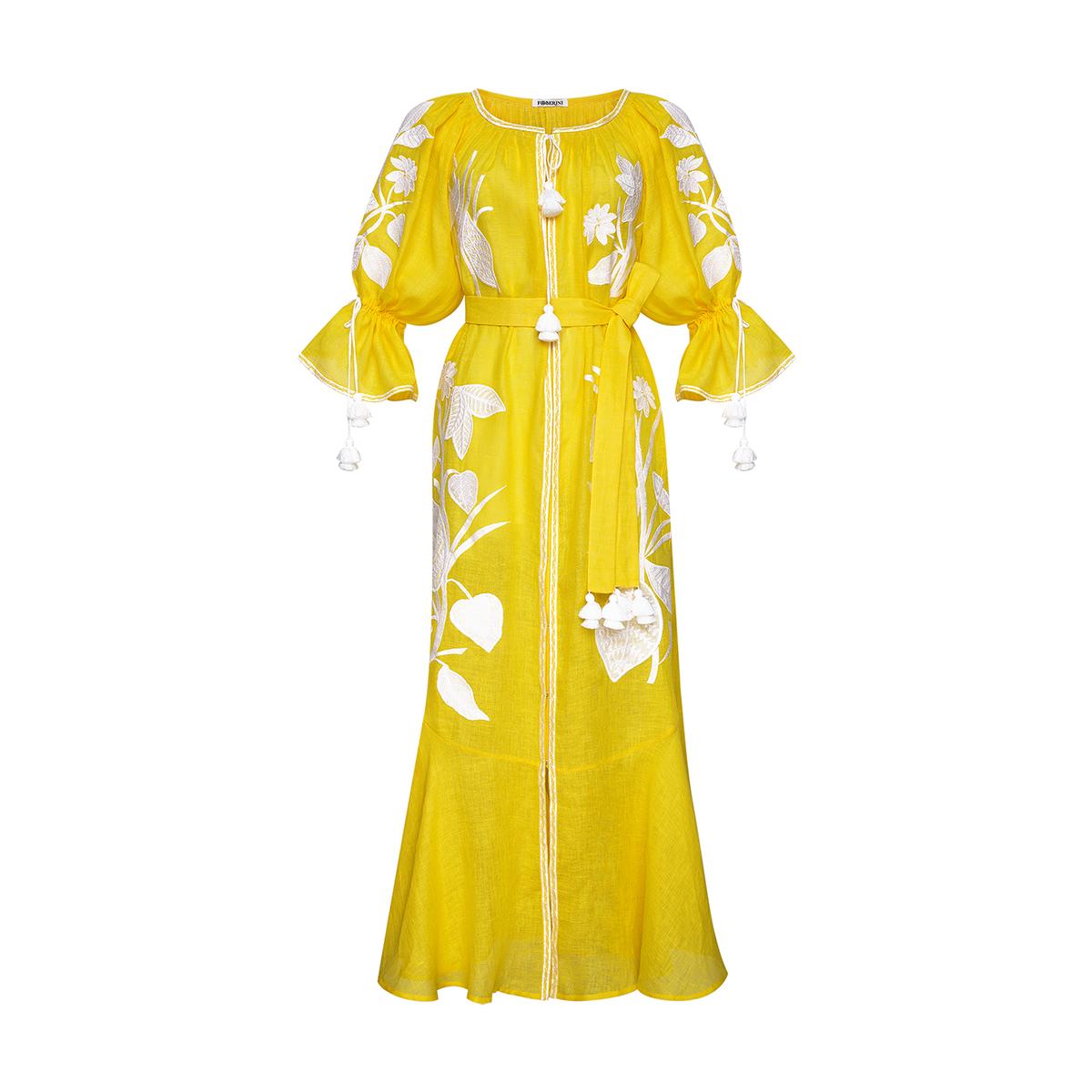 Eden Yellow Maxi Dress