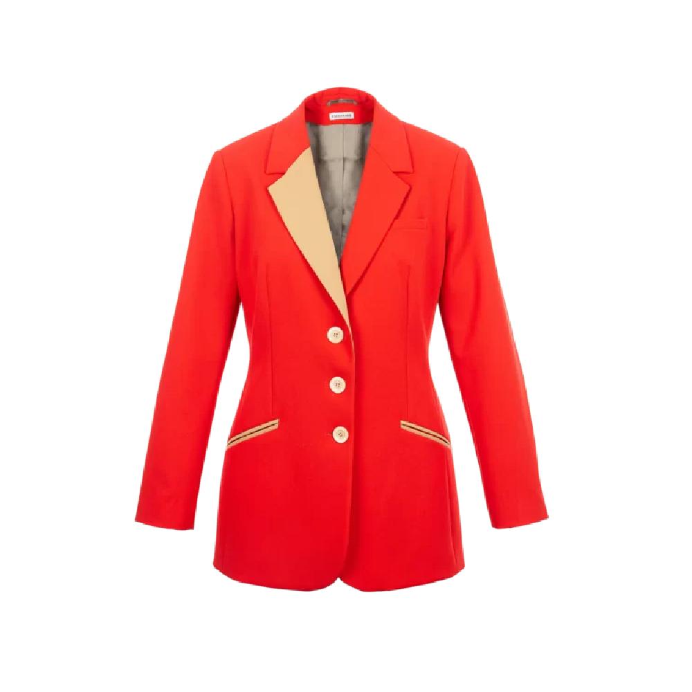 Paris-red-blazer