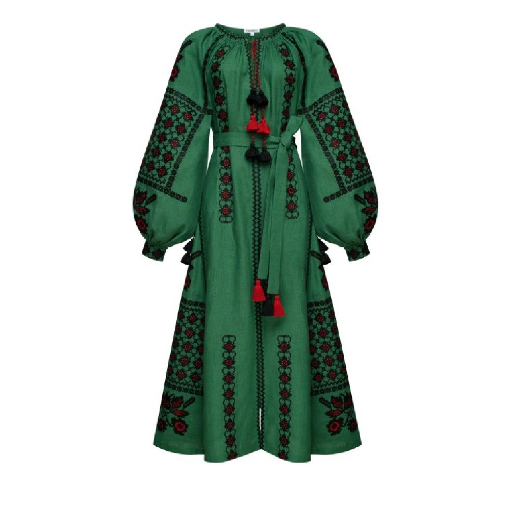 Midi dress green green chic