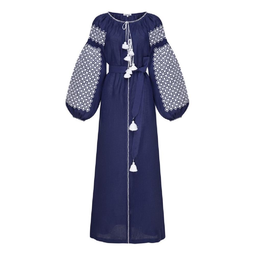 Solomia blue maxi dress