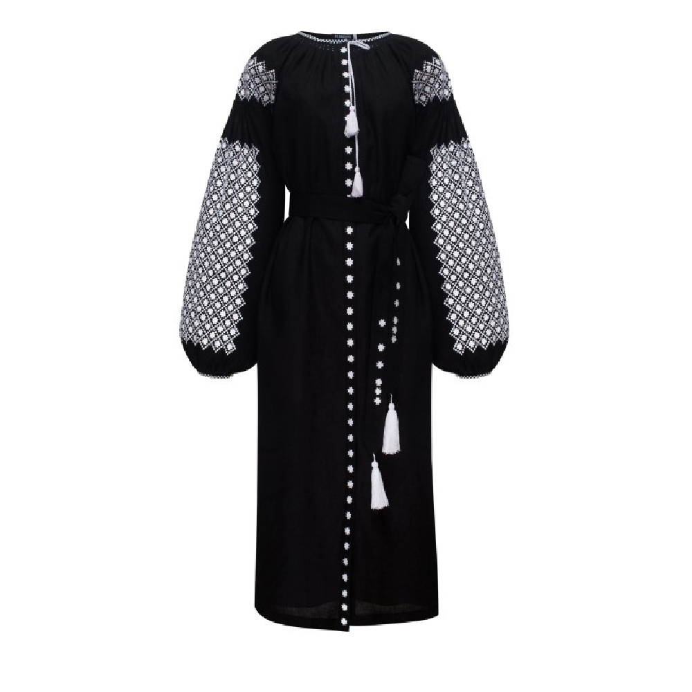 Moonlight black midi dress