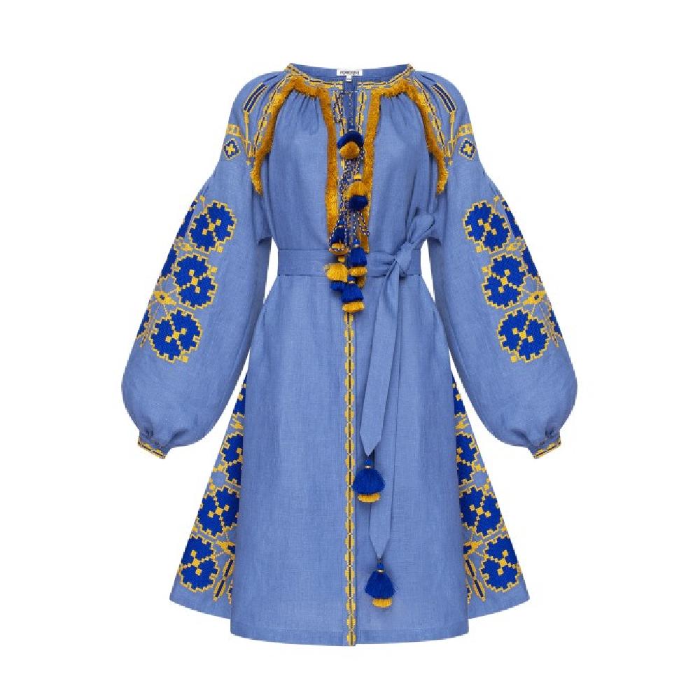 Blue ros blue dress