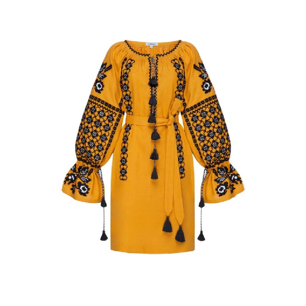 Tunic mustard zoryana dress