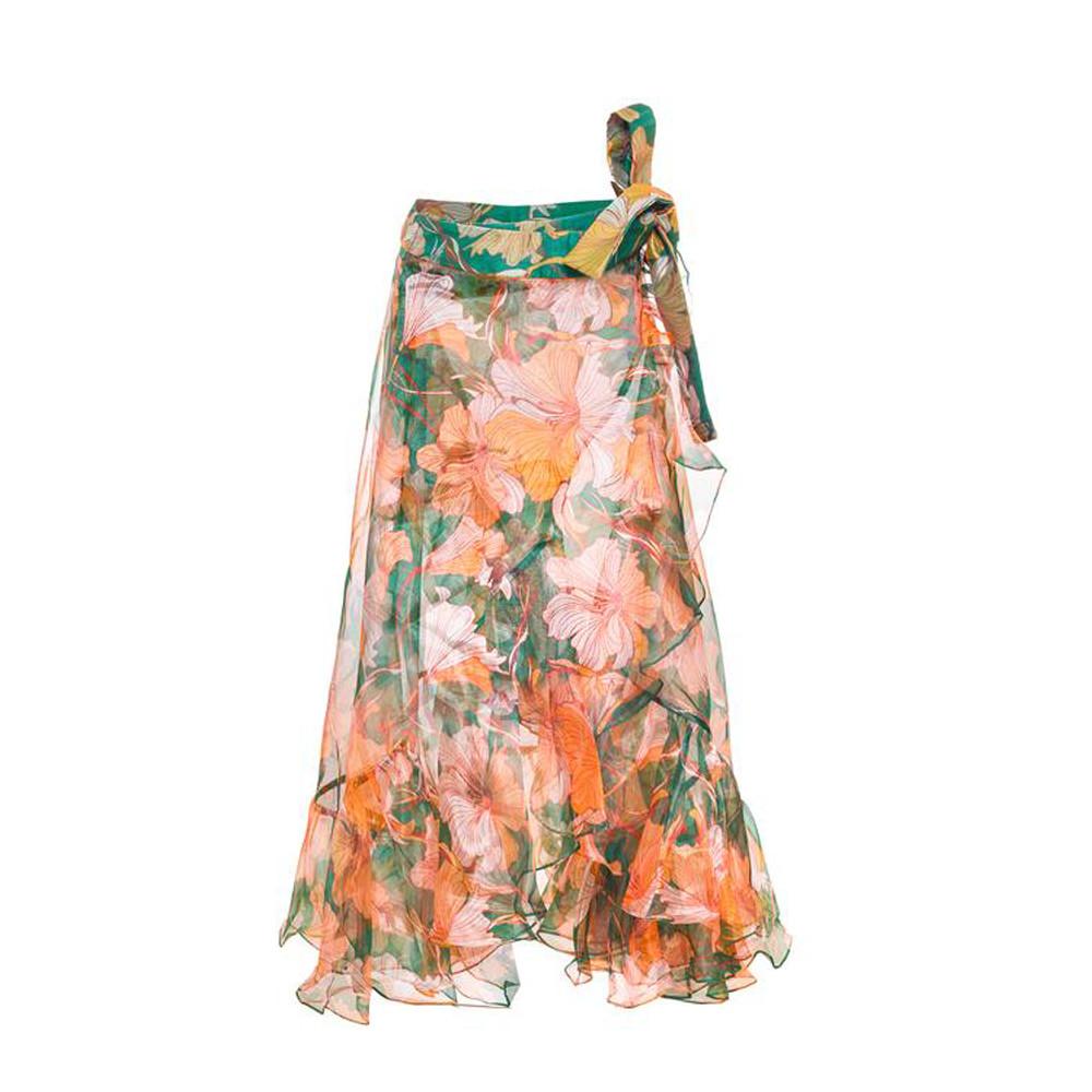 Trento green skirt