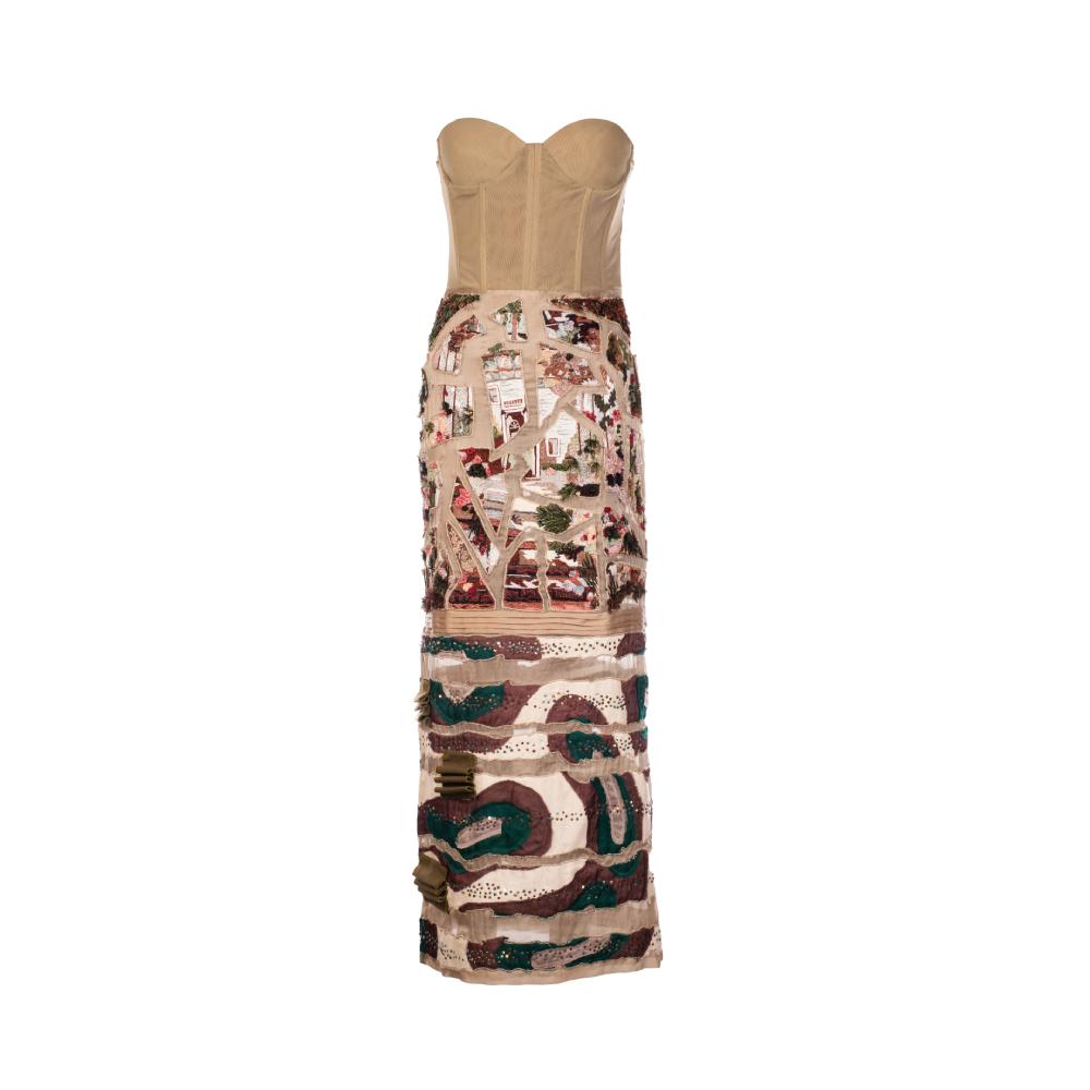 Puzzle maze dress