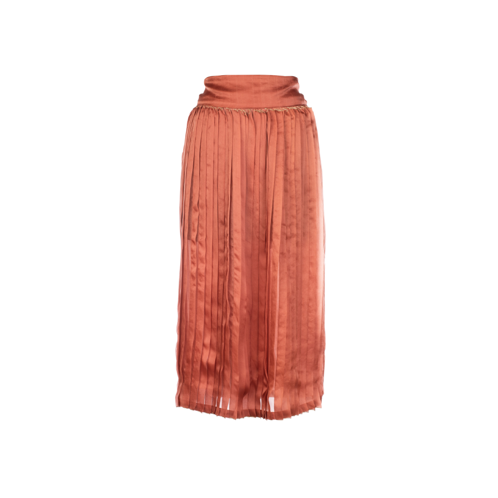 Fabricated pleating skirt
