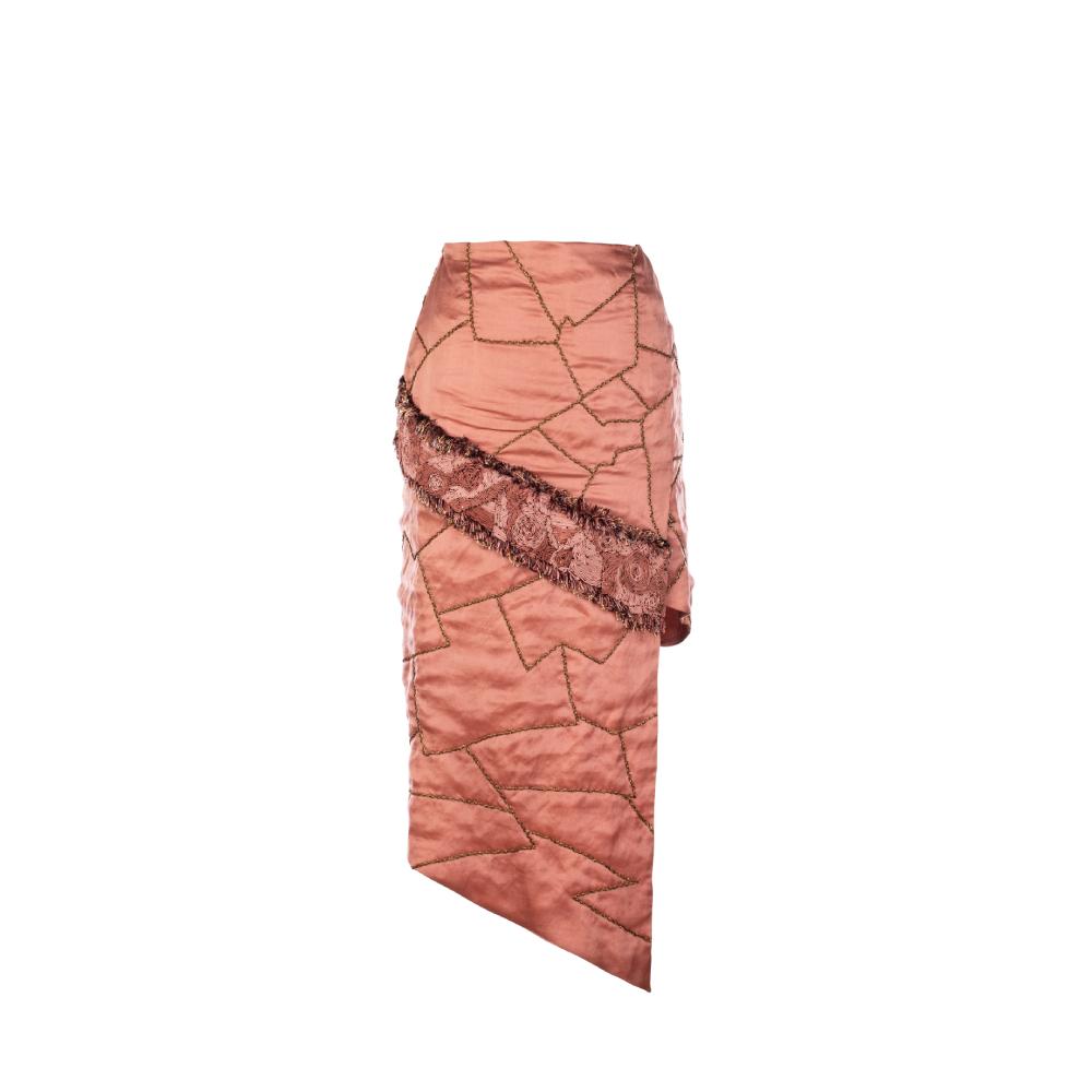 Maze scrawled skirt