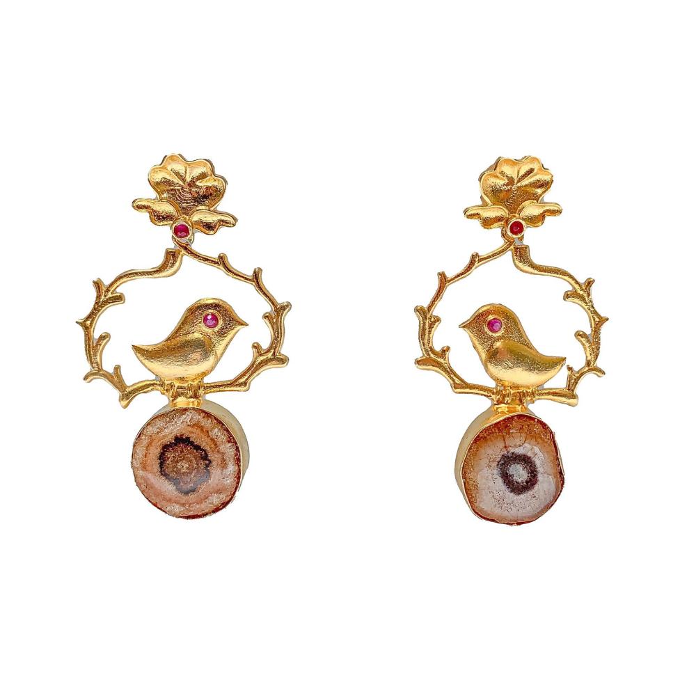 Morning bird earrings