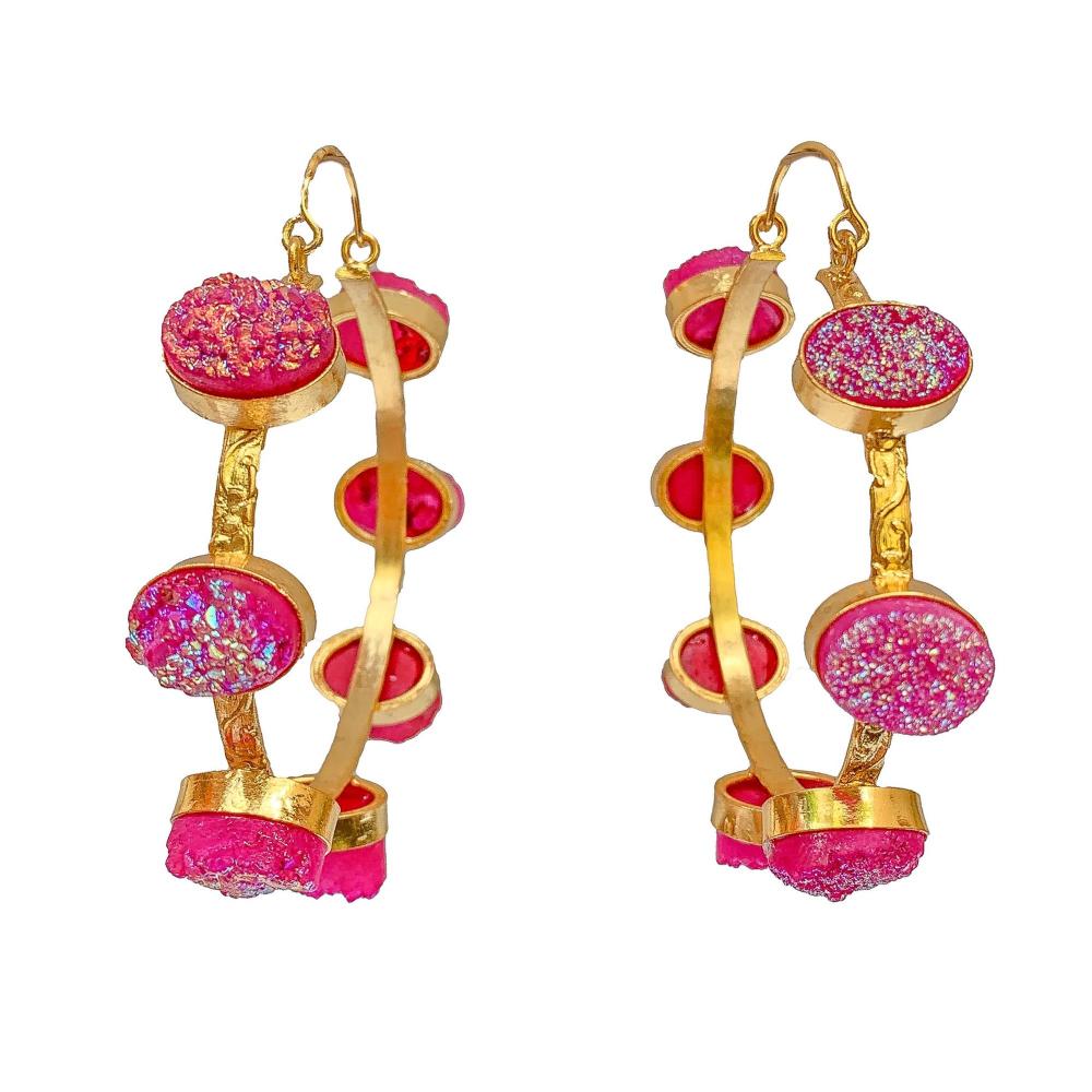 Ferris wheel hoop earrings