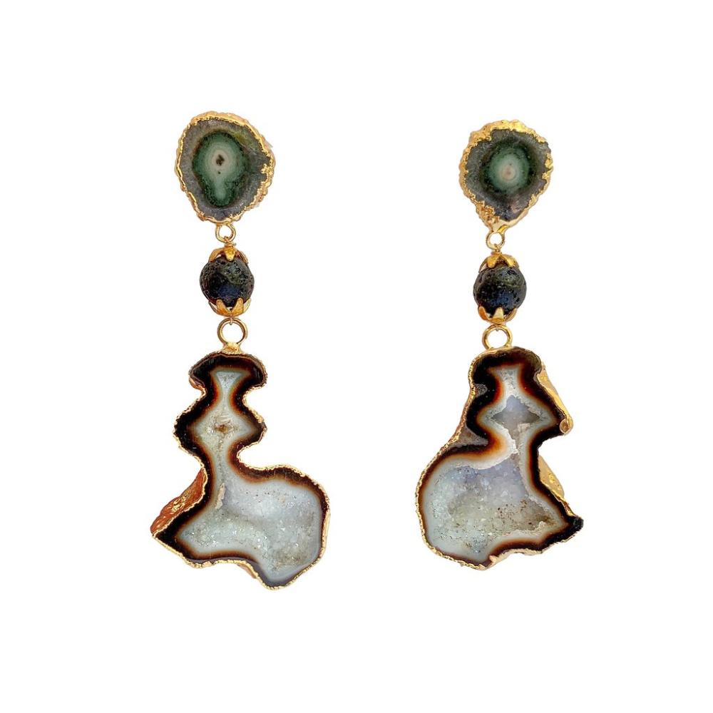 Night knight earrings